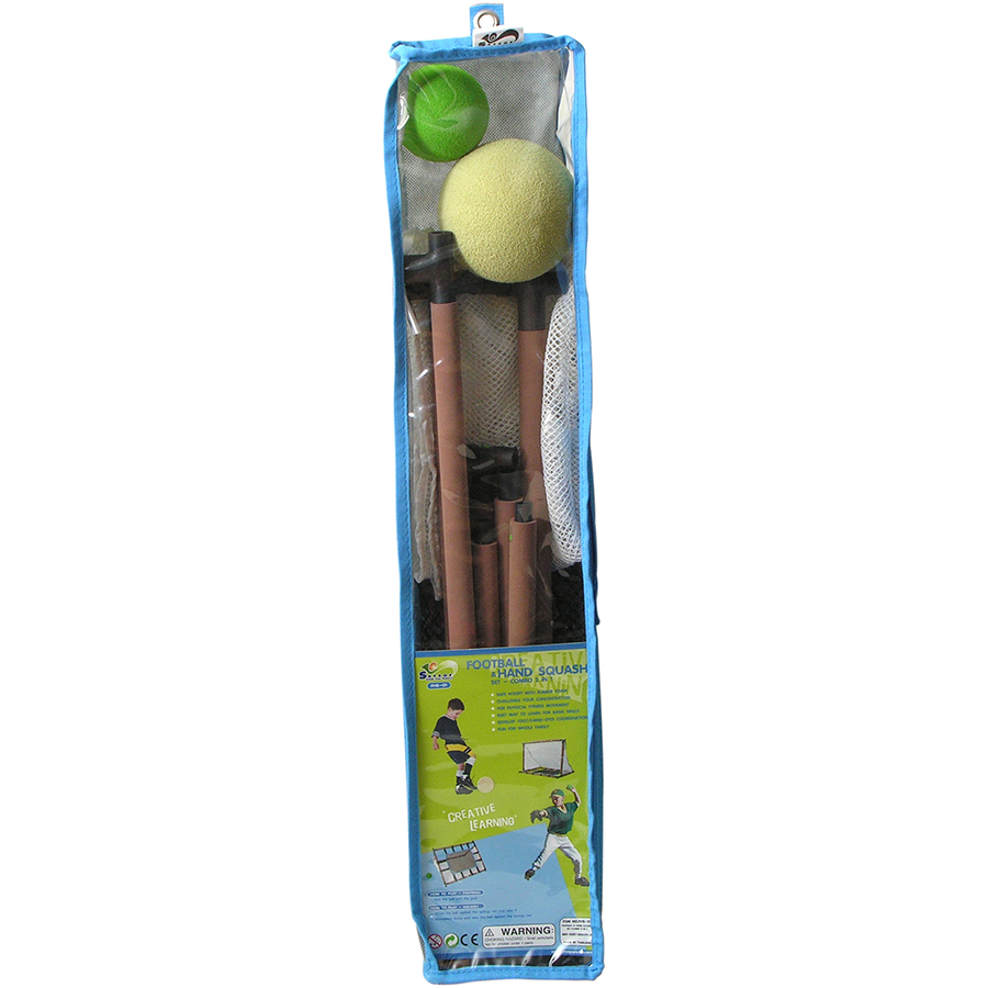 FHS-01(B) FOOTBALL N HAND SQUASH SET-COMBO 2 IN 1